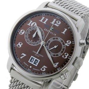 2019公式店舗 ツェッペリン 7684M-3 メンズ ツェッペリン ZEPPELIN クロノ クオーツ メンズ 腕時計 時計 7684M-3 ブラウン【ラッピング無料】, きもの和泉:5bbcf7e3 --- frmksale.biz