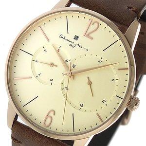 経典 サルバトーレマーラ SALVATORE MARRA クオーツ メンズ 腕時計 時計 SM18105-PGWH アイボリー, AKMミネラル館 1b3c262b