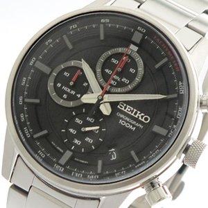 高い素材 セイコー SEIKO 腕時計 時計 メンズ SSB313P1 クォーツ ブラック シルバー, チチブグン 49d43a35