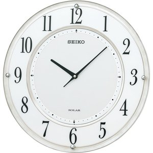 【おトク】 セイコー ソーラープラス薄型電波掛時計 室内装飾品 掛け時計 振り子無し丸型時計 SF506W()【送料無料】, ミズシマスポーツ 32102749
