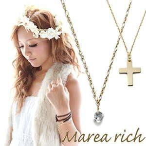 【驚きの値段で】 マレアリッチ 2WAY Marea rich rich K10 クロスモチーフ・ホワイトクォーツ 2WAY ロングネックレス ゴールド Marea 10KJ-23【送料無料】【送料無料】, カミスナガワチョウ:3e0bf52c --- sameerescorts.com