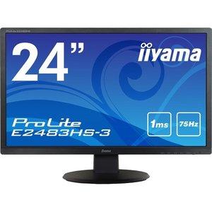 【初回限定お試し価格】 iiyama E2483HS-B3 (フルHD/ 24型ワイド液晶ディスプレイ E2483HS-3 ProLite iiyama E2483HS-3 (フルHD/ D-Sub/ HDMI/ DP/ ブルーライトカット/ フリッカーフリー) マーベルブラック【送料無料】【在庫:お取り寄せ】, 瀬戸町:72884495 --- akadmusic.ir