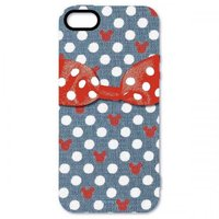 23449cf475 ドットリボンiPhoneSE/iPhone5S/iPhone5専用シェルジャケット ネイビー[生産終了品]