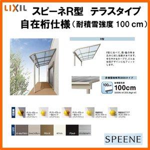 超格安一点 テラス屋根 スピーネ リクシル 間口3640ミリ×出幅885ミリ テラスタイプ 屋根R型 積雪100cm 自在桁, サラスヴァティー 6dac0768