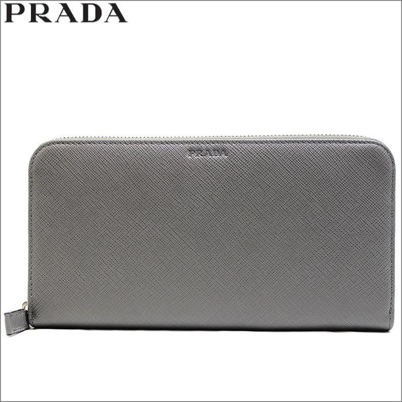 プラダ PRADA アウトレット 長財布 ラウンド レザー |ファッションラボ【ポンパレモール】