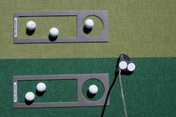 ゴルフ練習器具・距離感マスターカップ/二つの異なるマット