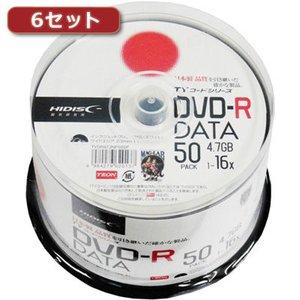 【爆売り!】 hidisc 【6セット】 DVD-R(データ用)高品質 50枚入 TYDR47JNP50SPX6, MGCメガネ販売 f77db2fd