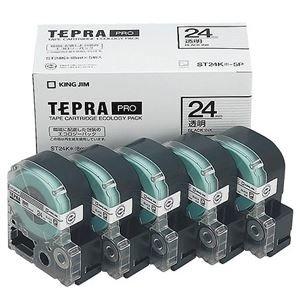 超爆安 その他 (まとめ)キングジム テプラ PRO テープカートリッジ 24mm 透明/黒文字 ST24K-5P 1パック(5個)【×3セット】 ds-2218591, ミセスファッション 織美屋 cadf8145