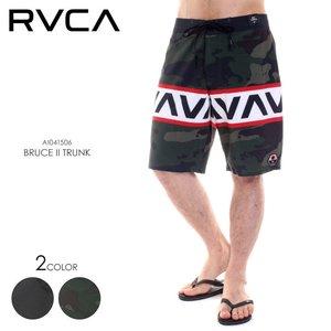 最高 RVCA サーフパンツ メンズ BRUCE II TRUNK AI041-506 2018春 ブラック/グリーン 28/30/32/34, ヨカワチョウ 68ada16e