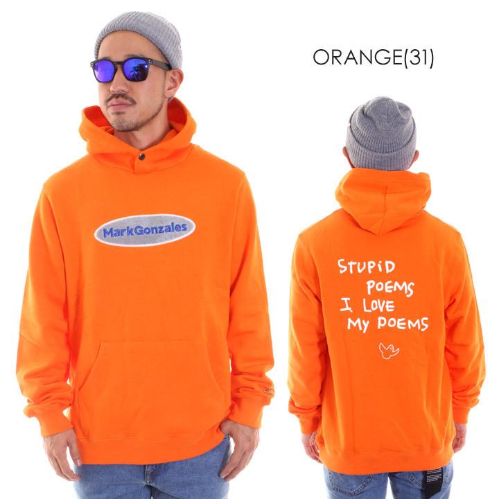 パーカー メンズ オレンジ