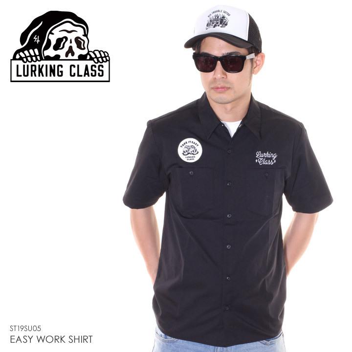 LURKING CLASS ラーキングクラス シャツ メンズ EASY WORK SHIRT ST19SU05 2019春夏 ブラック S/M/L