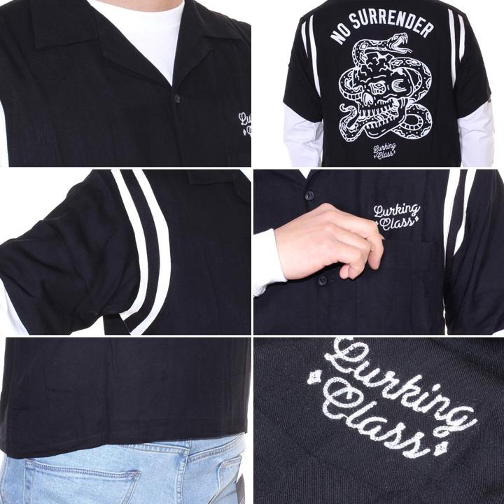 LURKING CLASS ラーキングクラス シャツ メンズ NO SURRENDER BOW ST19SU02 2019春夏 ブラック S/M/L