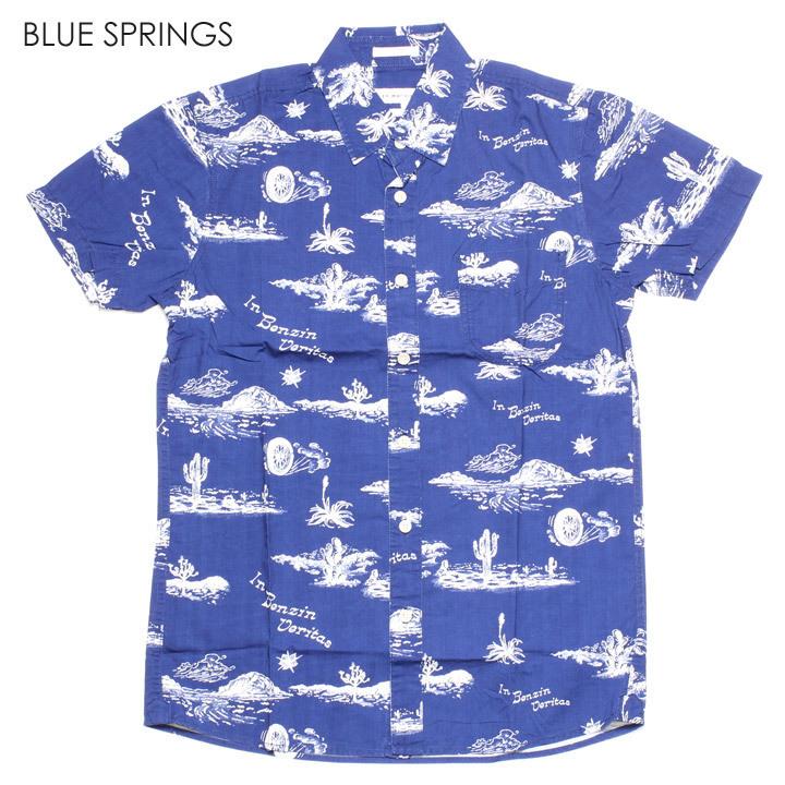 DEUS EX MACHINA デウスエクスマキナ シャツ メンズ RALPH SPRINGS SHIRT 2019春夏 ブルー/ホワイト S/M