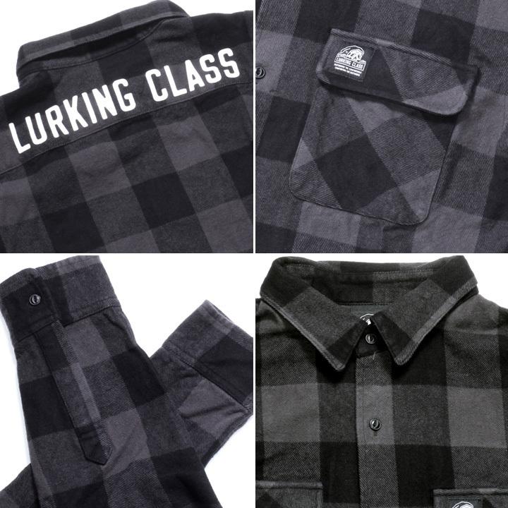 LURKING CLASS ラーキングクラス シャツ メンズ BUFFALO CHECK SHIRT 2019秋冬 ブラック M/L