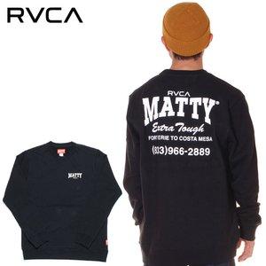 格安販売の RVCA MATTYS ルーカ トレーナー メンズ MATTYS FLEECE CREW FLEECE メンズ 2019秋冬 ブラック M/L 男らしい仕上がりのマティー・マセソンコラボトレーナー◎, 【大注目】:4db62fb1 --- eva-dent.ru
