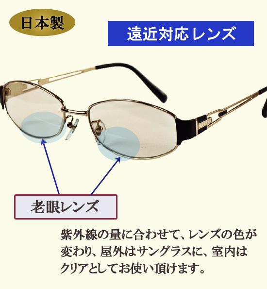 調光機能付き老眼鏡