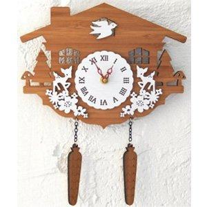 オープニング 大放出セール DECOYLAB(デコイラボ) 掛け時計 CUCKOO 鳩時計 【送料無料・保証付】 [壁掛け時計 外国製 バンブー時計 おしゃれウォールクロック カッコー時計 木製 ハンドメイド掛け時計], ピザアリオ fb48fea7