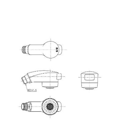 シャワーヘッド (めっき、TMC95型用) 【全品送料無料!】 [THC13] TOTO