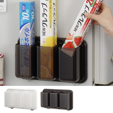 ラップ&ホイルポケット プラススマート キッチン収納 マグネット+吸盤