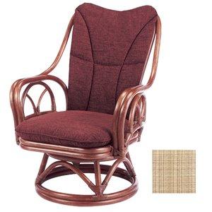 特別セーフ ラタンチェア ラタン家具 回転座椅子 チェア 背もたれクッション付 シィーベルチェア 228DF 座面高38cm ( 送料無料 座いす ラタン家具 アジアン家具 チェア 座椅子 シーベルチェア シィーベルチェアー 座いす 椅子 イス ) 贅沢な空間を演出するラタン家具, キラキラ携帯Venus:d51d7e85 --- genealogie-pflueger.de