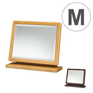【人気商品!】 卓上ミラー メイクアップ 上置ミラー 天然木フレーム コンパクト 幅45cm ( 送料無料 ミラー 木製フレーム 鏡 木製 卓上 スタンドミラー コンパクトミラー メイクアップ シンプル 北欧 ドレッサー コンパクト 木製フレーム 高級感 ブラウン ) チェストの上やテーブルの上、どこにでも置ける卓上ミラー, ミネチョウ:f12bf93c --- rise-of-the-knights.de