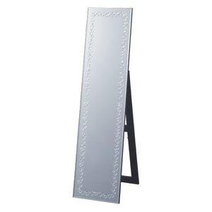 【超安い】 スタンドミラー 姿見 クリスタル模様 幅38cm ( 送料無料 全身鏡 鏡 全身ミラー おしゃれ ミラー スタンディングミラー クリスタル風 姫系 ディスプレイ スタイリッシュ ゴージャス ), ソルレガロインターナショナル 6db7d2b7