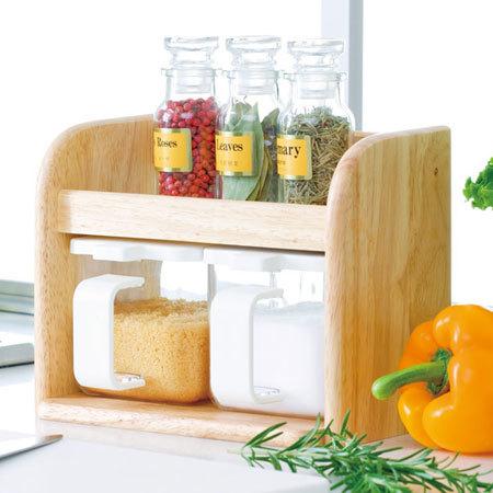 調味料入れ DELI 木製クッキングボックス 2個組