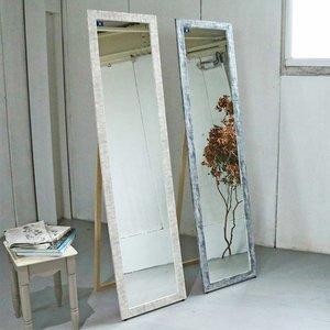 最新入荷 ミラー 鏡 高さ161cm スタンドミラー 姿見 ポリスチレン樹脂製 全身鏡 ( 送料無料 かがみ カガミ 壁掛けミラー 飛散防止 壁掛け鏡 全身 石目調 長方形 おしゃれ スタンド リビング 玄関 寝室 インテリア ), ルネッサンスインテリア ff915786