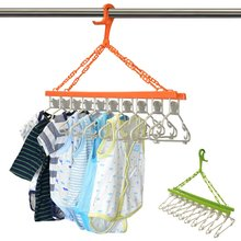 10連ハンガー 洗濯ハンガー ベビーハンガー 折り畳み