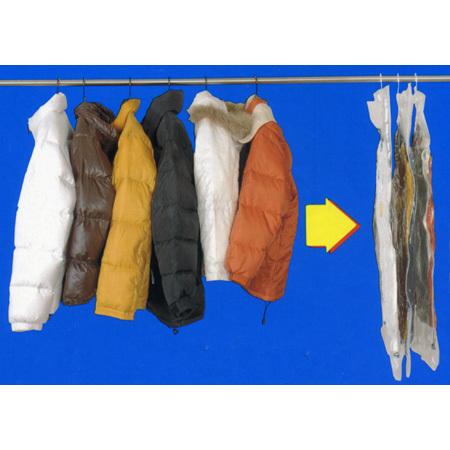 衣類圧縮袋 ハンガーにそのままつるせる衣類圧縮袋 ショート