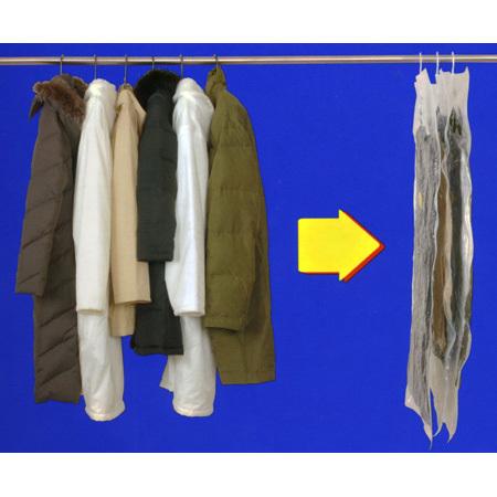 衣類圧縮袋 ハンガーにそのままつるせる衣類圧縮袋 ロング