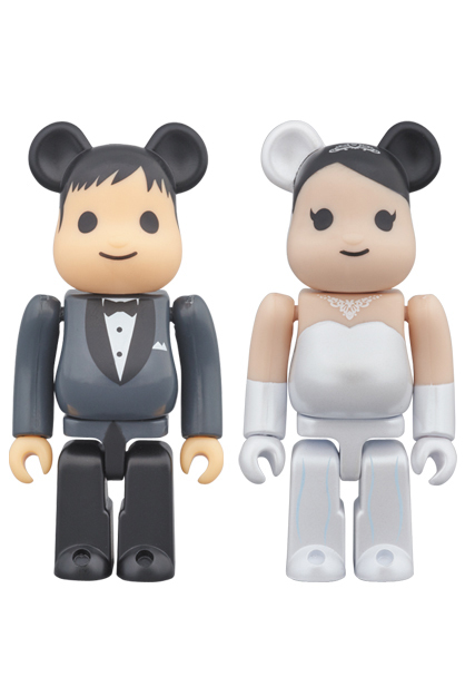 2016 Medicom Toy Plus Exclusive Wedding Marriage 100/% Set Be@rbrick Bearbrick