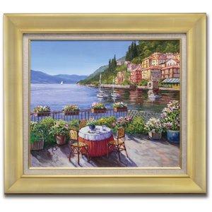 【一部予約!】 肉筆油彩画 湖畔の風景 F6号, Ari shop 07ee8225