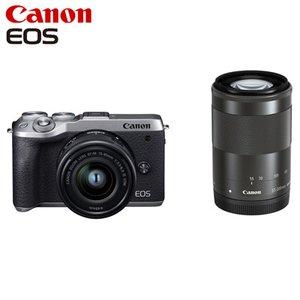 【格安saleスタート】 Canon キヤノン ミラーレス一眼カメラ EOS M6 Mark II ダブルズームキット EOSM6MK2SL-WZK シルバー【送料無料】, 朝地町 a9c19ef6