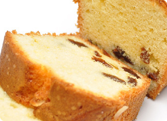 パウンドケーキの断面