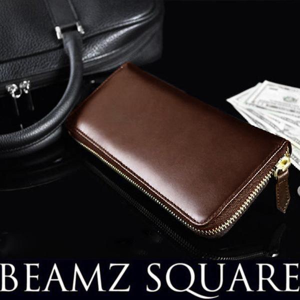 f202761d9bc2 ラウンドファスナー 長財布 薄い BEMAZ SQUARE ...|AS shop【ポンパレ ...