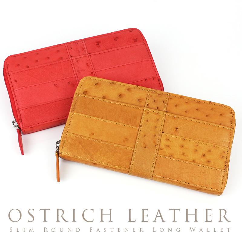 dd14605f97e0 オーストリッチ 財布 薄型 ラウンドファスナー式 長財布 レ... AS shop ...