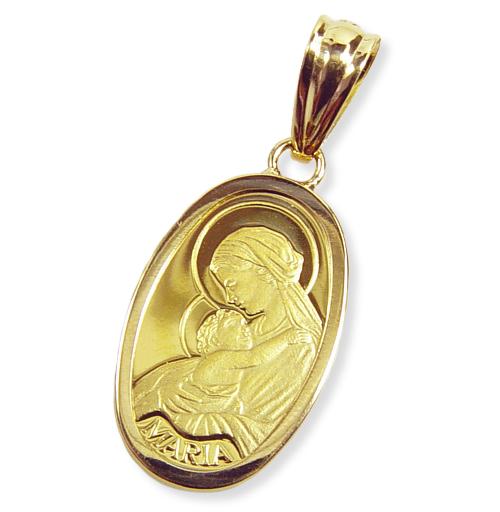 純金聖母マリア金貨(2.5g)コインペンダントトップ・スイスパンプ社スリム枠
