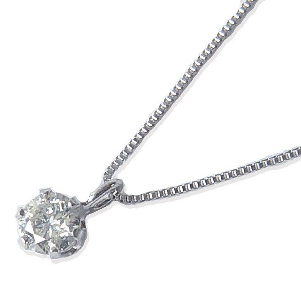 K10WG天然ダイヤモンドペンダントネックレス0.15カラット