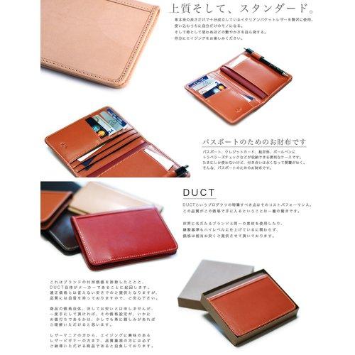 845506f898ad パスポートケース パスポート入れ【全5色】DUCT 本革 スムースレザー ...