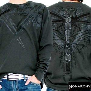 【SALE】モナーキー L/S Tシャツ ブリタニカ ブラックMONARCHY LS TEE Britanica Black