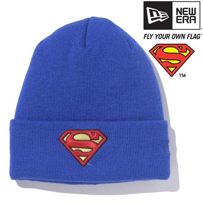 スーパーマン×ニューエラ ニットキャップ ベーシックカフニット スーパーマンロゴ ロイヤル ブラック レッド SUPERMAN×New Era Knit Cap Bacic Cuff Knit Superman Logo Royal Black