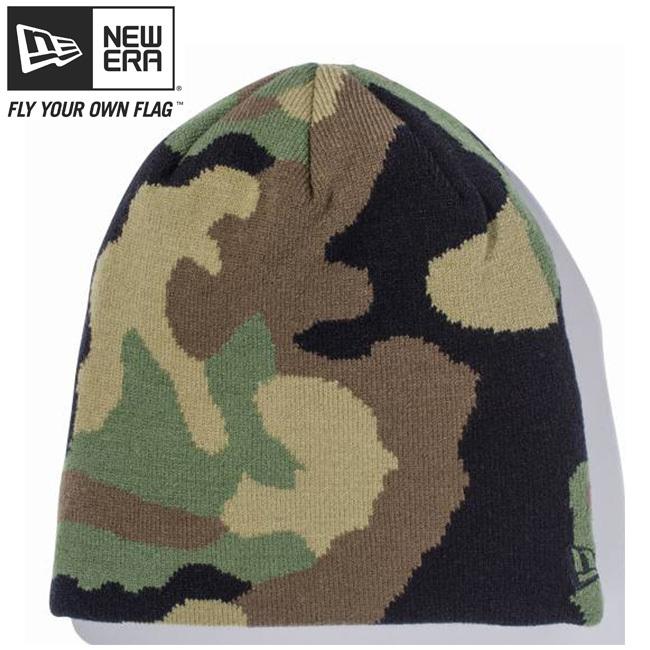 ニューエラ ニットキャップ ベーシックビーニー ウッドランドカモ ブラック New Era Knit Cap Basic Beanie Woodland Camo Black