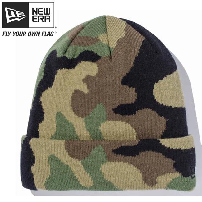 ニューエラ ニットキャップ ベーシックカフニット ウッドランドカモ ブラック New Era Knit Cap Basic Cuff Knit Woodland Camo Black