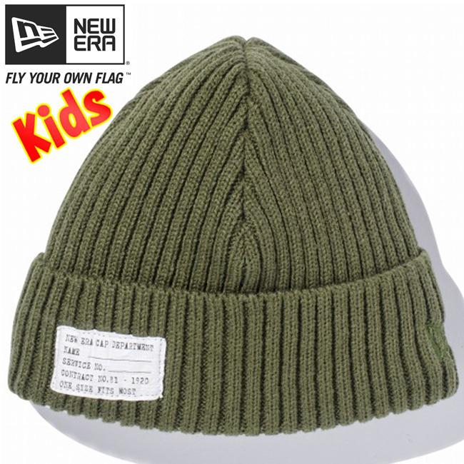 ニューエラ キッズニットキャップ ミリタリーニット パッチ アーミーグリーン アルパイングリーン New Era Knit Cap Military Knit Patch Army Green Alpine Green