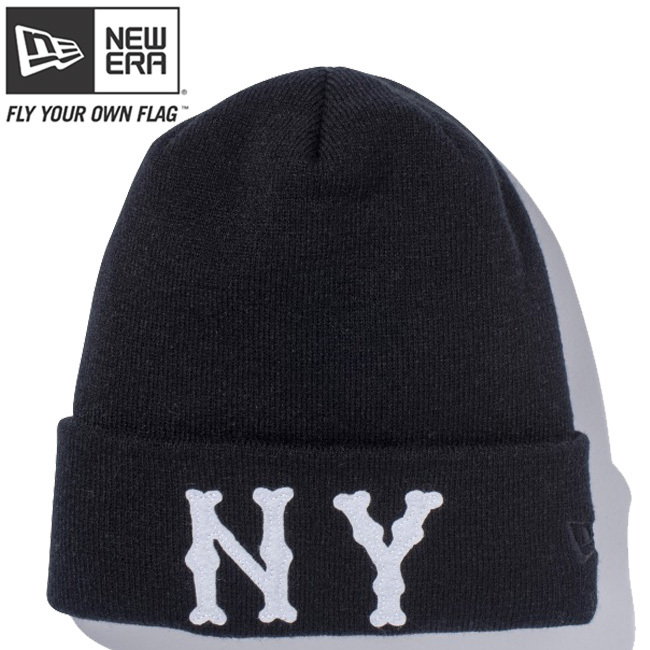 ニューエラ ニットキャップ ベーシックカフニット チームロゴ ニューヨーク ハイランダース ブラック ホワイト ブラック New Era Knit Cap Basic Cuff Knit Team Logo New York Highlanders Black White Black
