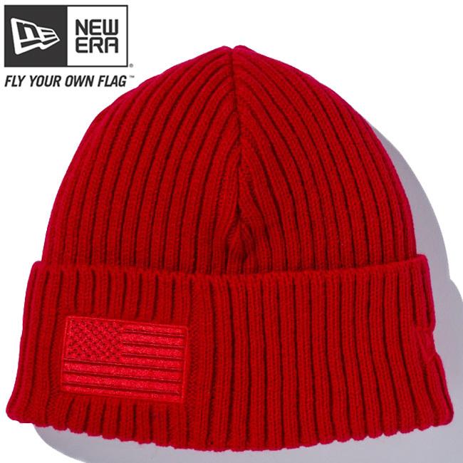 ニューエラ ニットキャップ ミリタリーニット スターズアンドストライプス スカーレット ラディアントレッド エイチレッド ラディアントレッド New Era Knit Cap Military Knit Stars & Stripes Scarlet Radiant Red H-Red Radiant Red
