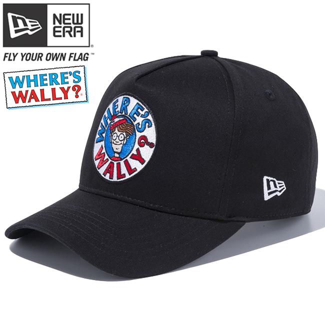 ウォーリー×ニューエラ 940 スナップバック ディーフレームトラッカー サークル ロゴ ブラック マルチカラー