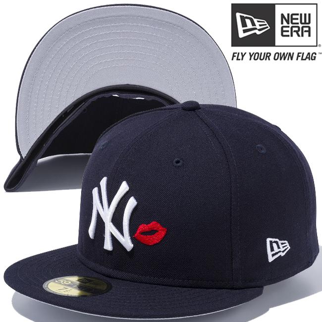 ニューエラ 5950キャップ マルチロゴ ニューヨークヤンキース リップ ネイビー ネイビー スノーホワイト