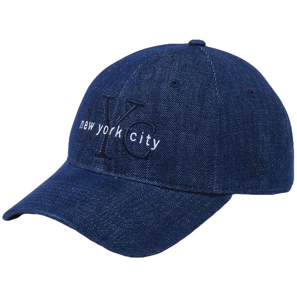ニューエラ 920キャップ ニューヨークシティ NYC インディゴデニム ミッドナイトネイビー スノーホワイト